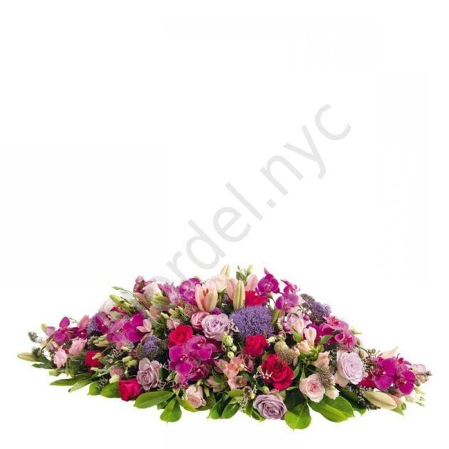 Funeral spray with orchids