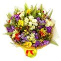 Bright freesia bouqet