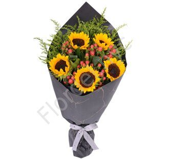 Sunflowers anf hypericum