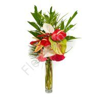 Assorted anthurium bouquet