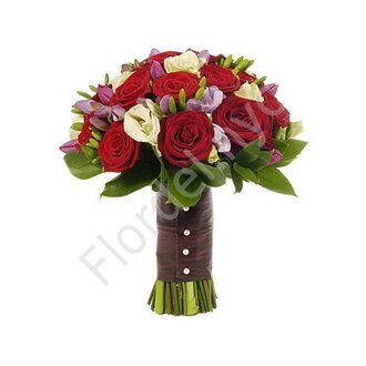 Red-purple wedding bouquet