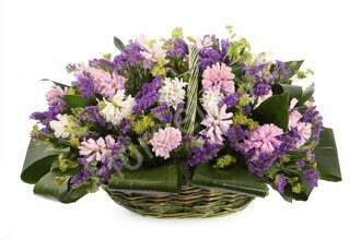 Large basket of hyacinths