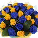Bright blue-yellow bouquet