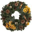 Christmas wreath with oranges