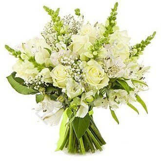 Snapdragon white bouquet
