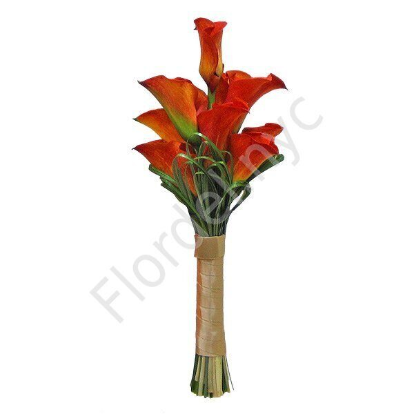Intimate package - Mango calla bouquet