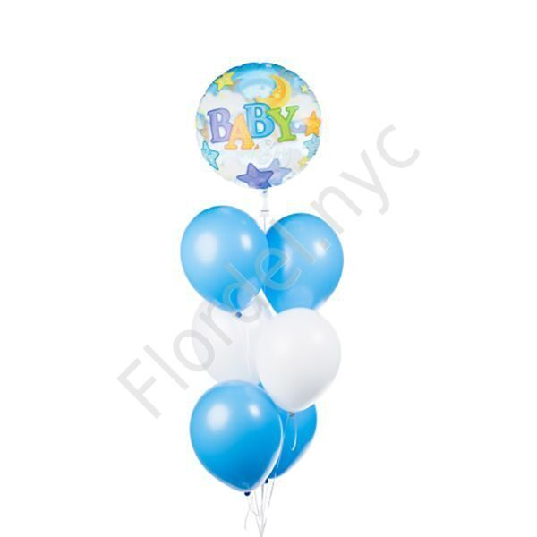 Set of balloons for a baby boy