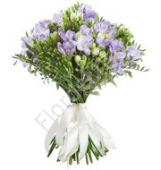 Blue freesia bouquet
