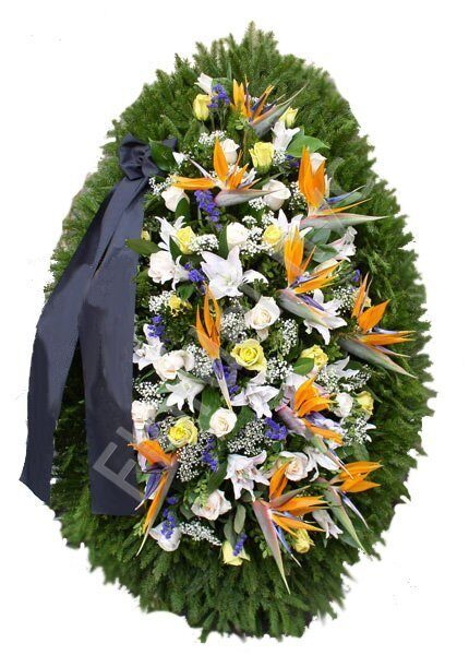 Bird of paradise standing wreath