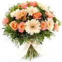 Bouquet with gerberas and roses