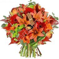 Tiger lily fall bouquet
