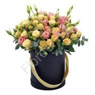 Shrub roses and lisianthus box