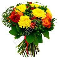 Bouquet with yellow chrysanthemums