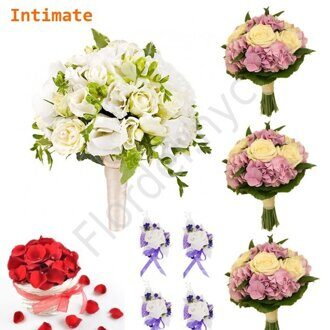 Intimate package - Bright orchid bouquet