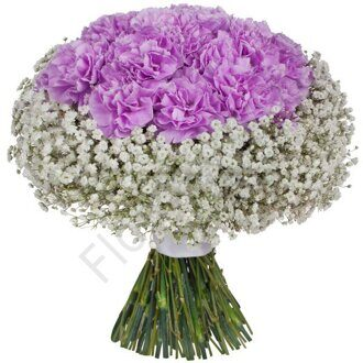Purple carnation bouquet