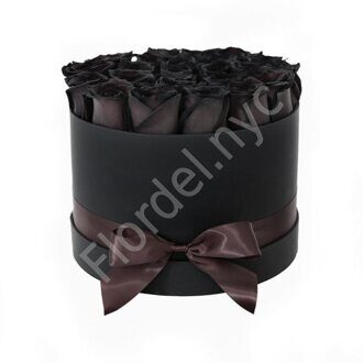 Medium black roses box