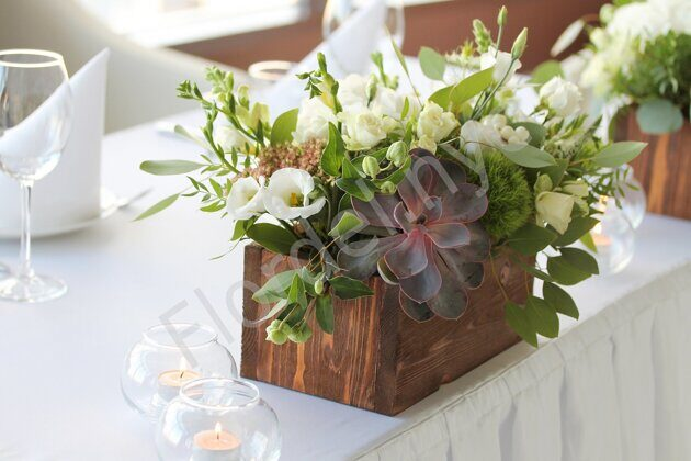 Centerpiece with sucullent