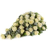 Casket Spray with white roses