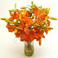 Bright tiger lily bouquet