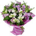 Pink freesia bouquet