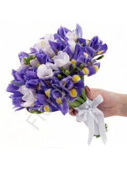 Irises and freesia