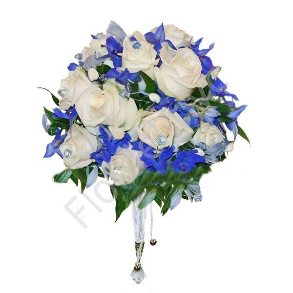 Deluxe package - Delphinium bridal bouquet