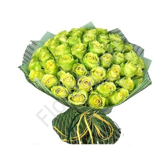 Green rose bouquet