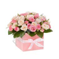 Simple pink rose box