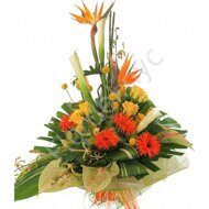 Bird of paradise tropical bouquet