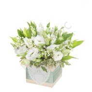 Garden arrangement with Lilies of the valley