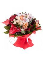 European style bouquet with anthurium