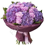 Hydrangea and carnations bouquet