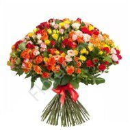 Assorted spray roses bouquet