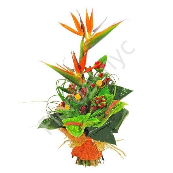 Bird of paradise exotic bouquet