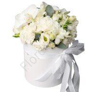 Box of white flowers