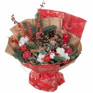 Red New Year bouquet