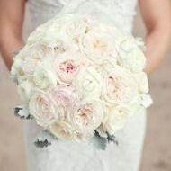 Bridal bouquet with roses of David Austin