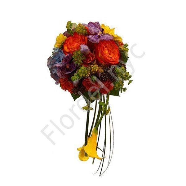 Deluxe package - Bright bridal bouquet