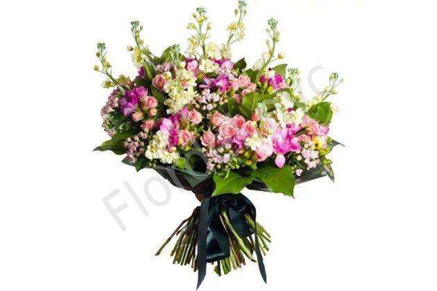 Pink stock bouquet