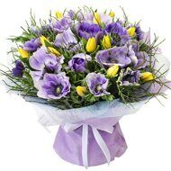 Anemones with tulips