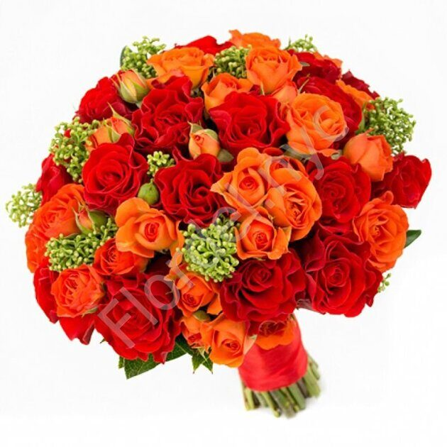 Basic package - Orange bridal bouquet