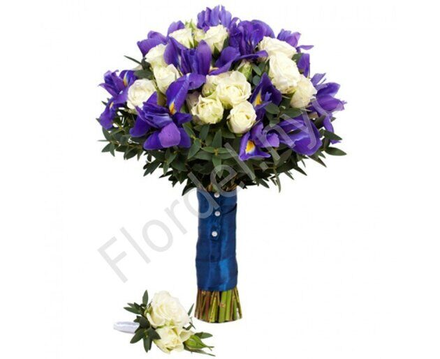 Premium package - Spray roses and irises