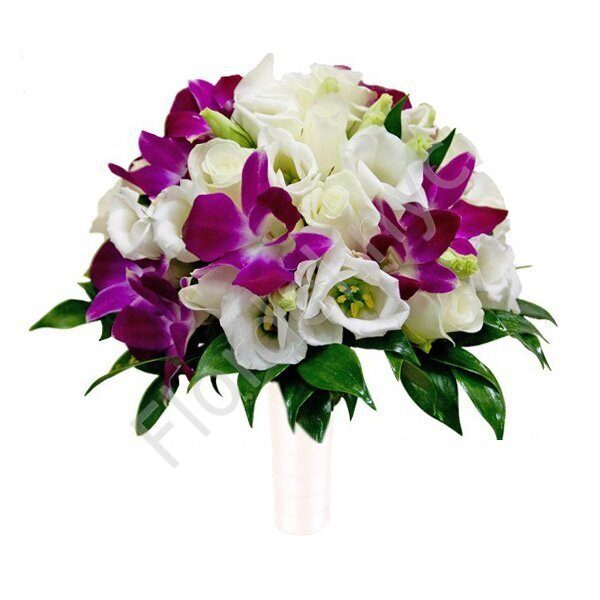 Premium package - Bright orchid bouquet