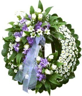 Traditional funeral wreath + standing