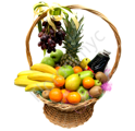 Fruit basket + juice