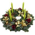 Christmas wreath with candies