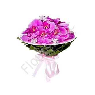 Magenta orchid bouquet