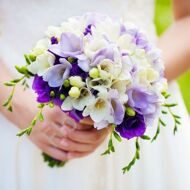 Bridal bouquet with freesia