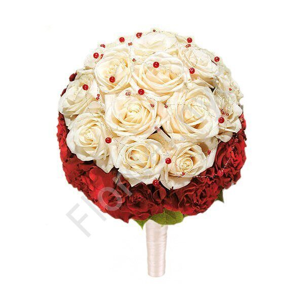 Deluxe package - Red-white bouquet
